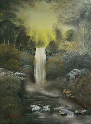 Golden Forest Waterfall (Small)131